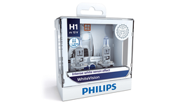 Philips White Vision H1 LED Globe Kit 12V 55W (2Pk) 12258WHVSM