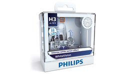 Philips White Vision H3 LED Globe Kit 12V 55W (2Pk) 12336WHVSM