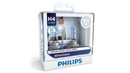 Philips White Vision H4 Globe 12V 60/55W (2Pk) 12342WHVSM