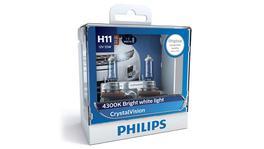 Philips Crystal Vision H11 Globe 12V 55W (2Pk) 12362CVSM