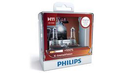 Philips X-treme Vision +100 H11 Globe 12V 55W (2Pk) 12362XVSM