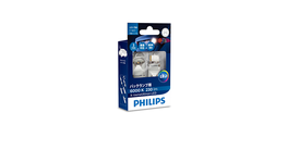 Philips Ultinon LED T20 Wedge Globe 12V 1W 6000K (2Pk) 12795X2