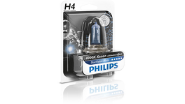 Philips 12342BVUBW - Motorcycle H4 Globe 12V 60/55W Blue Vision