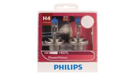 Philips Power Vision H4 Globe 12V 60/55W (2Pk) 12342PWVS2