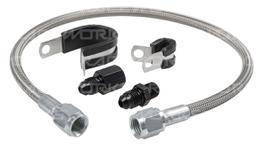 """Raceworks 1/8"""" Npt Pressure Sensor Flexible Hose Extension Kit"""
