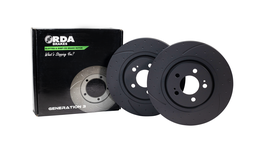 RDA Slotted And Dimpled Brake Rotor Pair Front RDA7785D