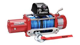 Runva 4X4 Winch 11XP 12V With Synthetic Rope - IP67 Motor (Red)