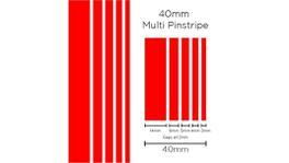 SAAS Pinstripe Multi Red 40mm x 10m 1903
