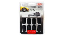 SAAS Wheel Nuts S/D Internal Hex M12x1.25 (Inc Key) Black (10 Pack) 8330510BC