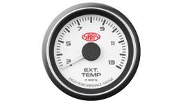 "SAAS Muscle Series 2-1/16"" Exhaust Temp Gauge 300-1300C White SG-EXT52W"