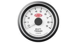 "SAAS Muscle Series 2-1/16"" Exhaust Temp Gauge 0-900C White SG-EXT52W1"