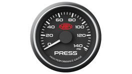 """SAAS Muscle Series 2-1/16"""" Oil Pressure Gauge 0-140 Psi Black SG-OP52B"""