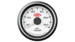 "SAAS Muscle Series 2-1/16"" Oil Temp Gauge 50-150C White SG-OT52W"