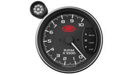 "SAAS Muscle Series 5"" Tacho Gauge 10,000RPM w/Shift Light Black SG-TAC5B"