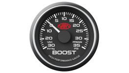"""SAAS Muscle Series 2-1/16"""" Boost Gauge 30 In Hg/35 Psi Black SG-TB52B1"""