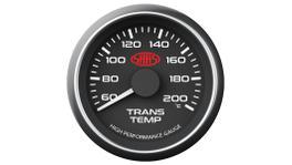 """SAAS Muscle Series 2-1/16"""" Trans Temp Gauge 60-200C Black SG-TT52B"""