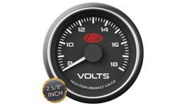 "SAAS Muscle Series 2-5/8"" Voltmeter Gauge 8-18 Volts Black SG-VLT258B"