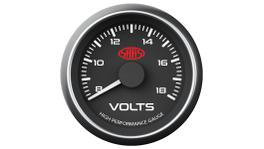 "SAAS Muscle Series 2-1/16"" Voltmeter Gauge 8-18 Volts Black SG-VLT52B"