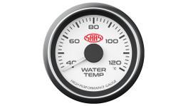 """SAAS Muscle Series 2-1/16"""" Water Temp Gauge 40-120C White SG-WT52W"""