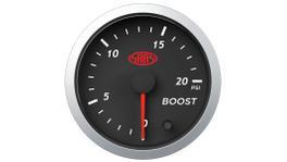"""SAAS Street Series 2-1/16"""" Boost Gauge Diesel 0-20 Psi Black SG21212"""