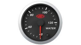 """SAAS Street Series 2-1/16"""" Water Temp Gauge 40-120C Black SG21220"""