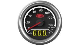 SAAS Trax Series Dual Gauge Oil Pressure 140 Psi/Water Temp 40-120C SG613020