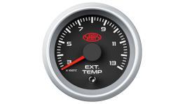 """SAAS Street Series 2-1/16"""" Exhaust Temp Gauge 300-1300C Black SGEXT52BS2"""