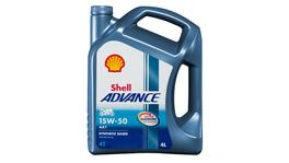 Shell Advance 4T AX7 15W50 Oil SM/MA2 4L