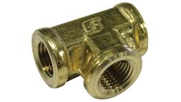 "SP Tools Brass 1/4"" Female Tee"