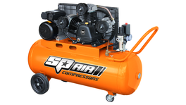 SP Tools 3Hp Belt Drive Compressor Triple Cylinder 100L