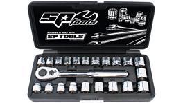 SP Tools Socket Set 3/8Dr 12Pt Low Profile 22Pc Metric/Sae