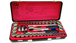 "SP Tools Socket Set 1/2"" Drive 12PT 41 Pc Metric/SAE"