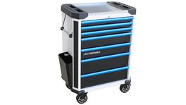 SP Tools Roller Cab 7 Drawer White/Blk/Blu Tech Series