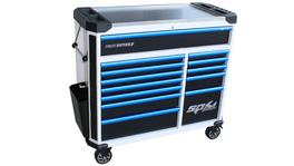 SP Tools Roller Cab 13 Drawer White/Blk/Blu Tech Series