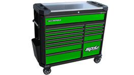 SP Tools Tech Series Roller Cabinet 13 Drawer Gasoline Green