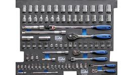 SP Tools Eva Tool Kit 81Pc Metric/SAE Socket & Accessories