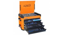 SP Tools Concept Series Tool Kit 267 Pc Metric 7 Dr Orange