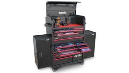 SP Tools Sumo Series Tool Kit 530 Pc Metric/SAE 18 Dr Blk/Rd