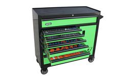 SP Tools Custom Series Tool Kit 217 Pc Metric/SAE Blk/Grn