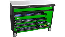 SP Tools Sumo Series Workshop Tool Chest Trolley Kit 425pc Metric/SAE Gasoline Green