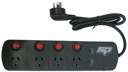 SP Tools Power Board 4 Outlet