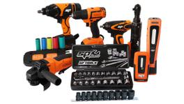 SP Tools Cordless 18V Ultimate Auto Power Tool Kit 6Pc SP82232