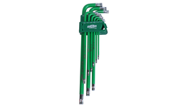 888 By SP Tools Key Set 9Pc Torx Hex (Green)