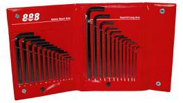 888 By SP Tools Key Set 25Pc Metric/SAE Wallet