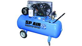 SP Tools Belt Drive 415V Industrial Cast 5.5Hp 200Lt Comp.