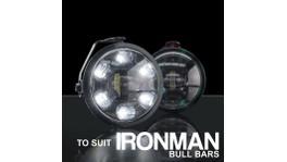 STEDI LED DRL Fog Light To Suit Ironman Bull Bar Black