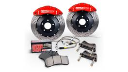 StopTech Big Brake Kit - Fits VW GTI Front w/Red ST-41 Calipers 328x25mm Drilled Rotors 06-12