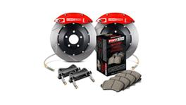 StopTech Big Brake Kit - Fits VW GTI Front w/Red ST-41 Calipers 328x25mm Slotted Rotors 06-12