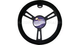 """Sunland Steering Wheel Cover 16"""" Suede-Look Black - SWC40B"""