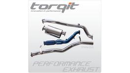 Torqit Turbo Back Exhaust 3 Inch fits Mitsubishi Triton MK 2.8L 03/2003-06 HS8022SS